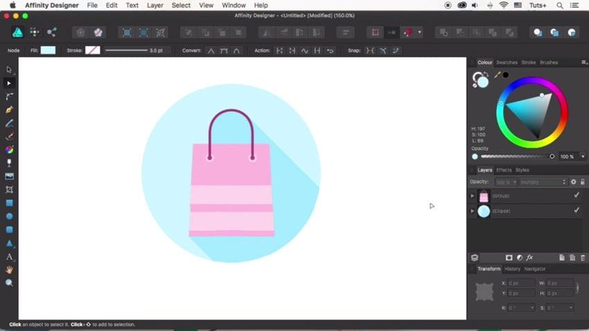 Finish the shopping icon