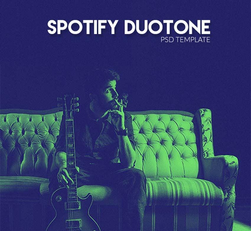 Spotify Duotone Template