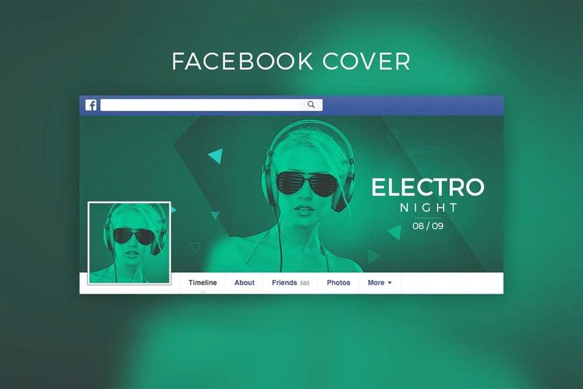 DJ Music Facebook Cover