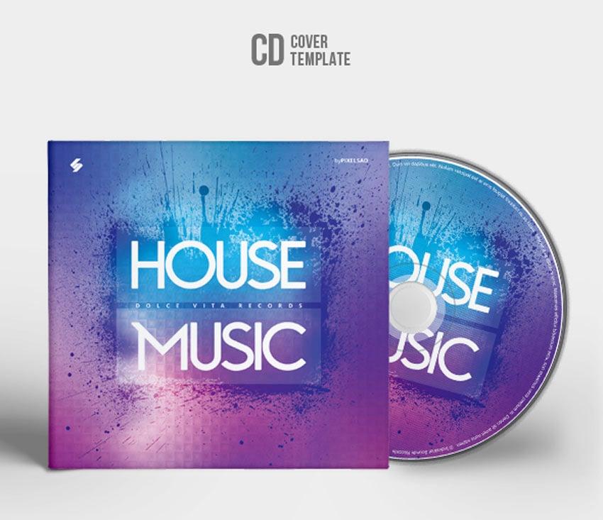 House Music - CD Cover Artwork Template