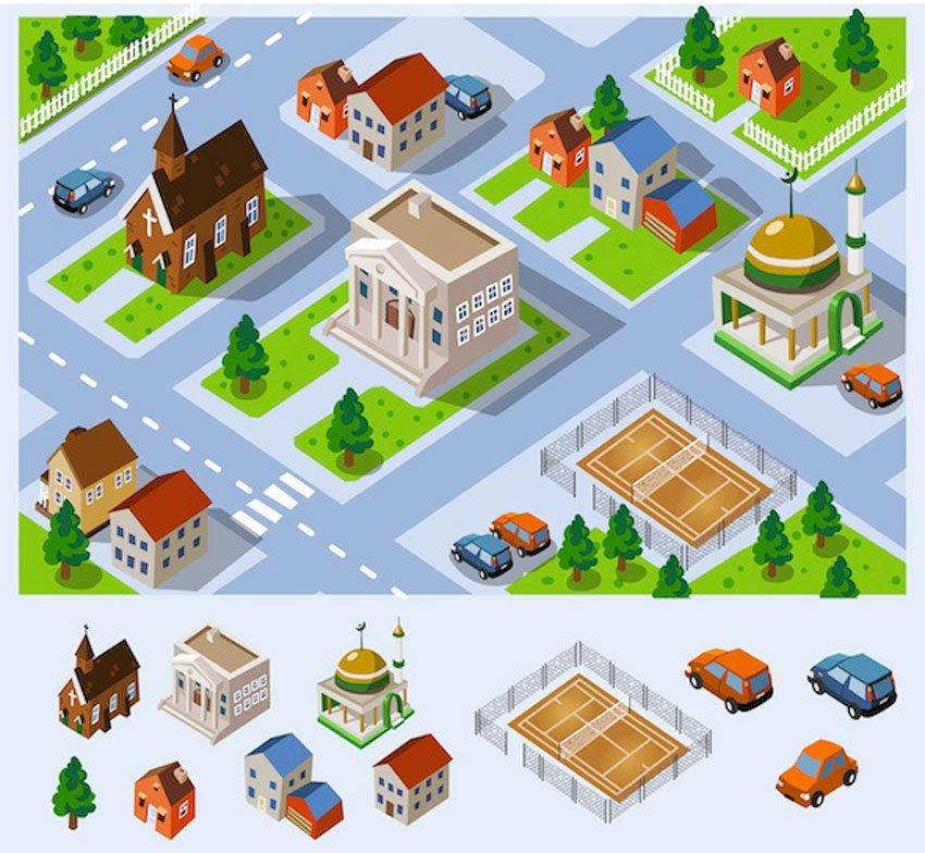 Map of City Hall Set