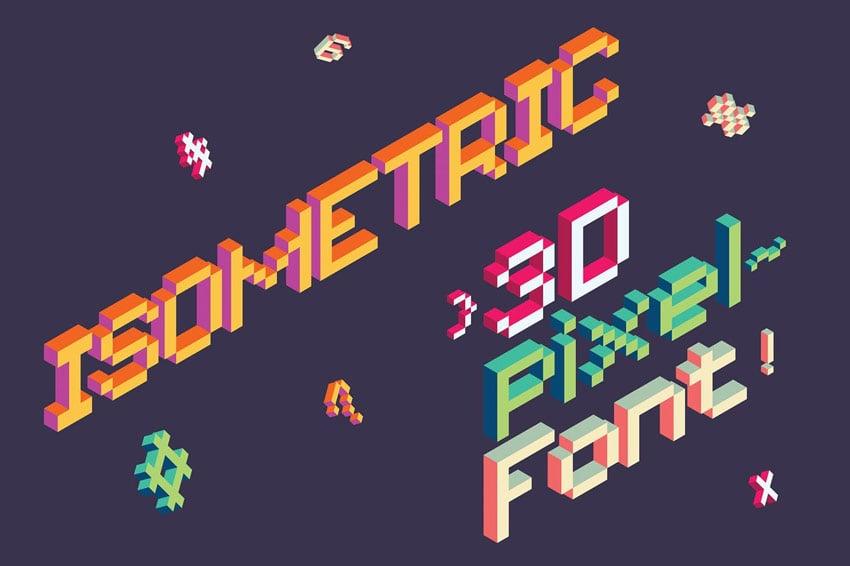 Isometric Pixel Font
