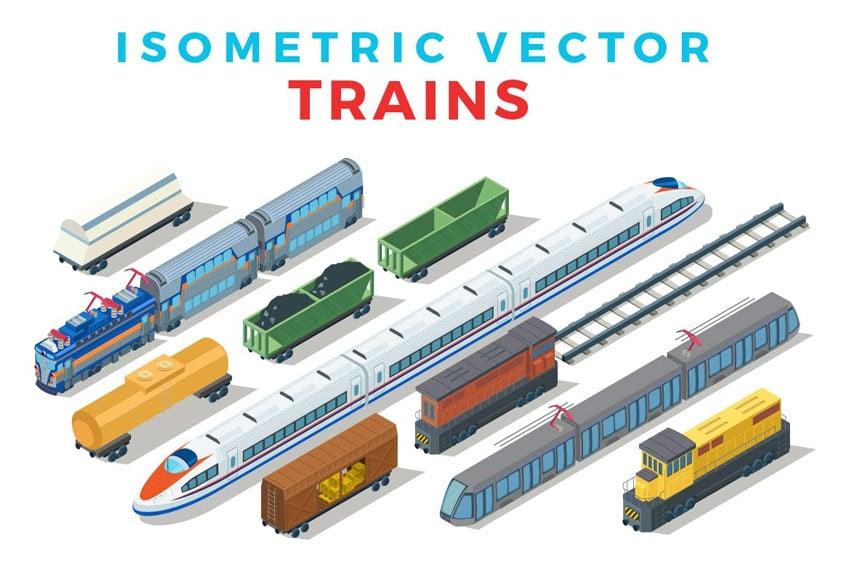 Vector Trains Isometric Flat