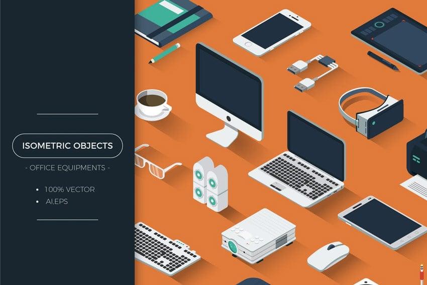 Isometric Office Equipment