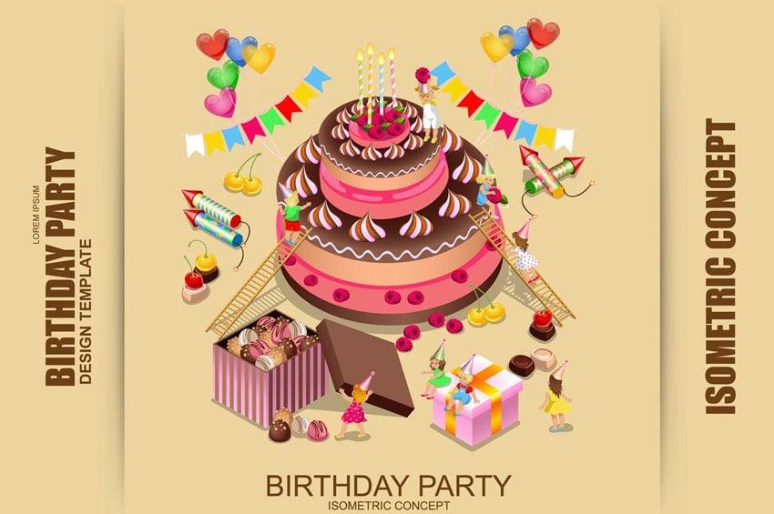Isometric Birthday Party