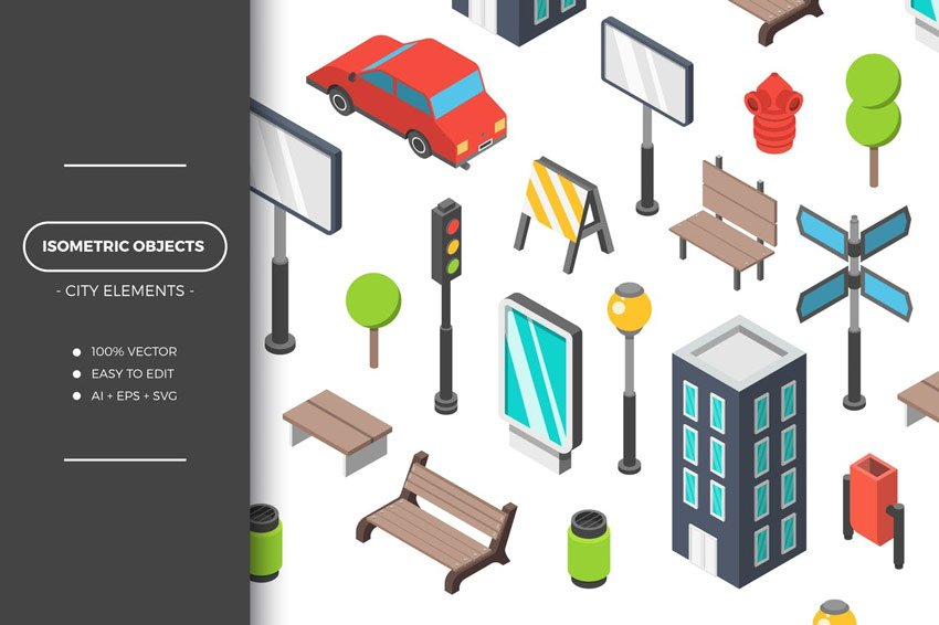 Isometric City Objects