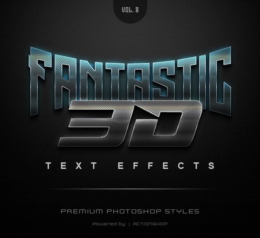 Fantastic 3D Text Effects