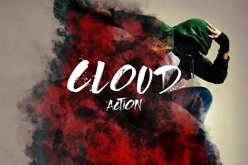 Cloud Photoshop Edits Action
