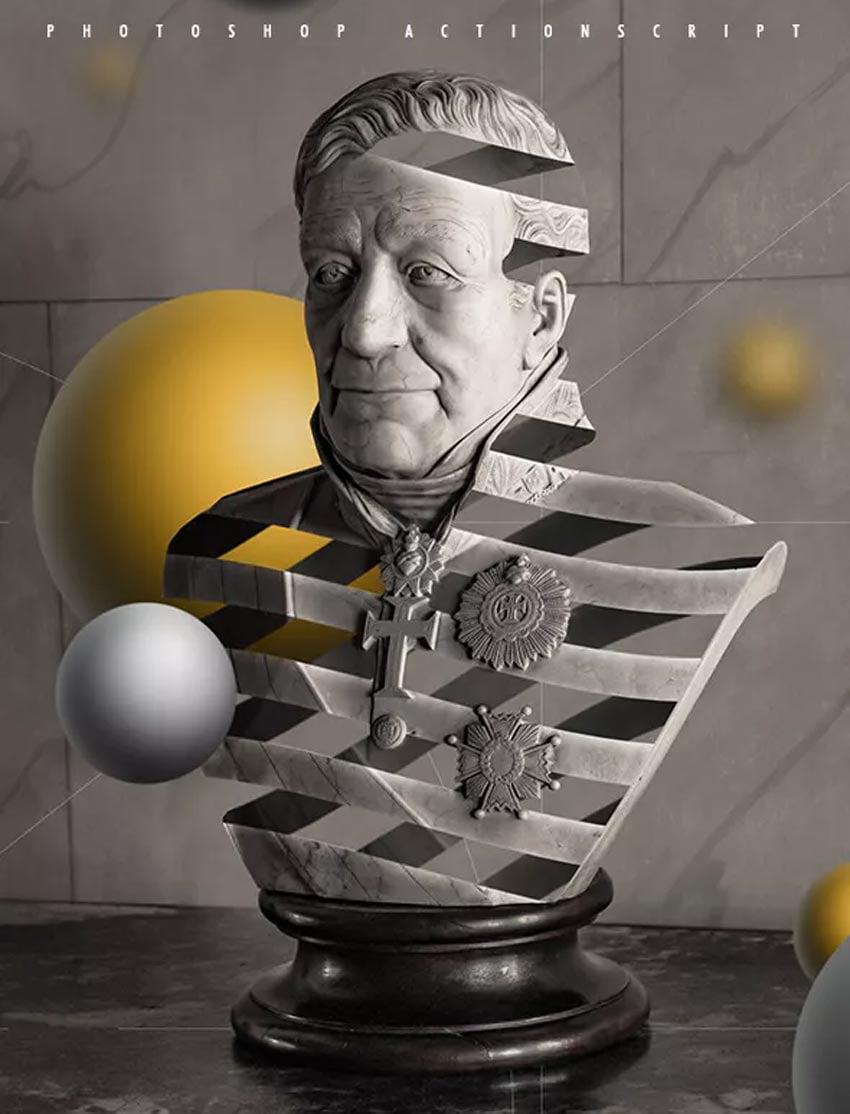 Escher Ribbon FX - Photoshop Add-On