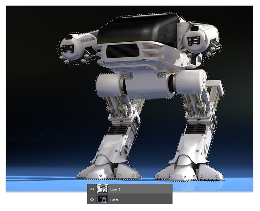 cut out the robot