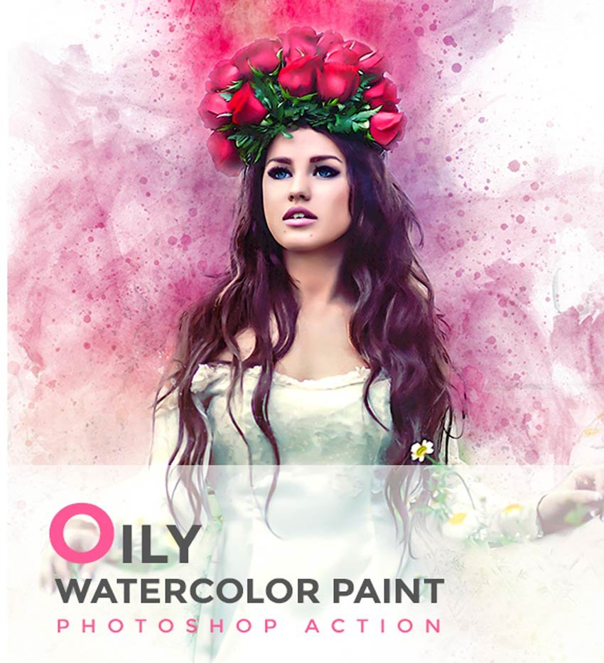 Oily Watercolor Paint PS Action