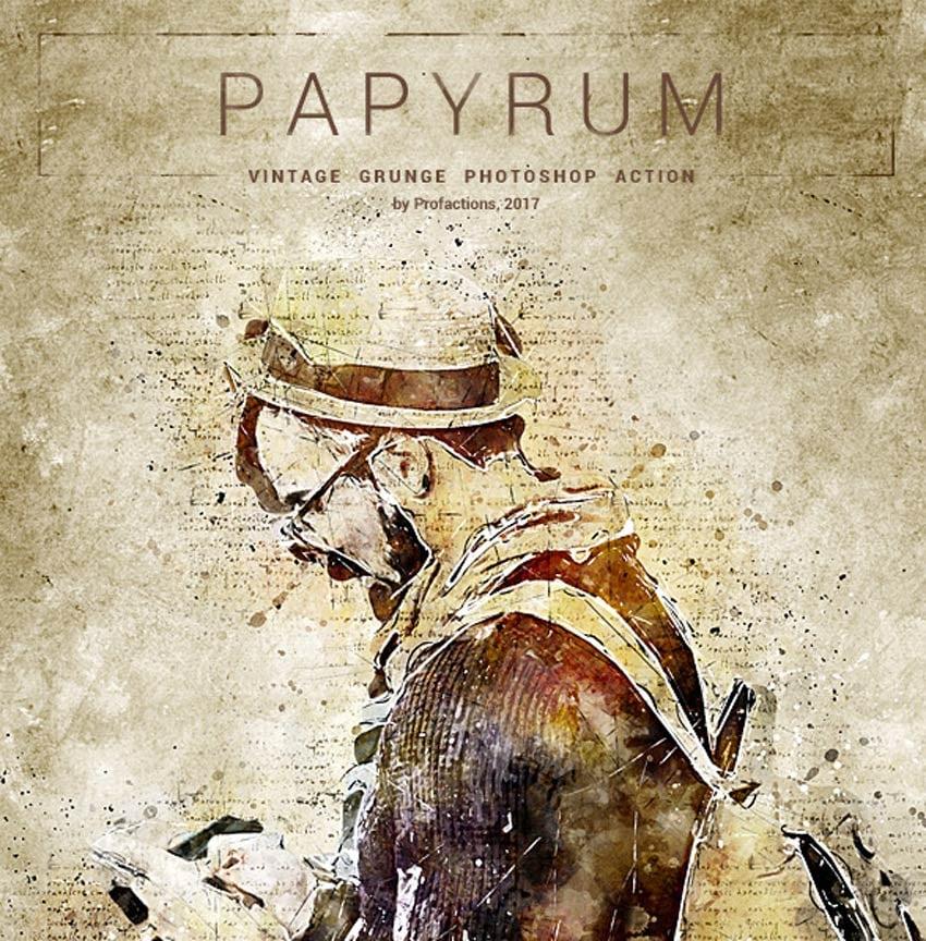 Papyrum - Vintage Grunge Photoshop Action