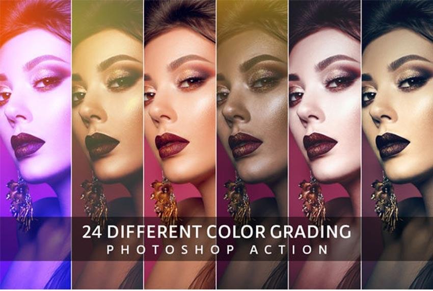 Color Grading Photoshop Photo Effects Vintage Action Download