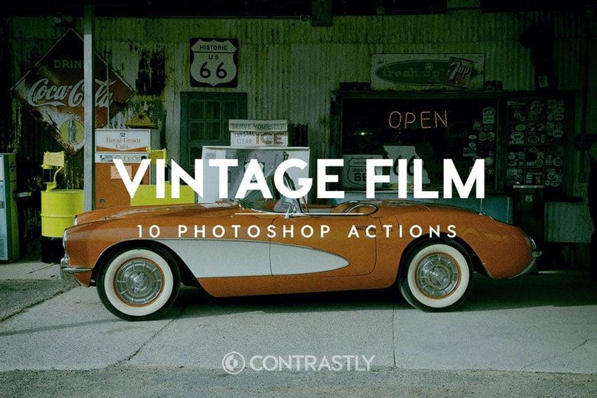 Vintage Film Effect Photoshop Actions