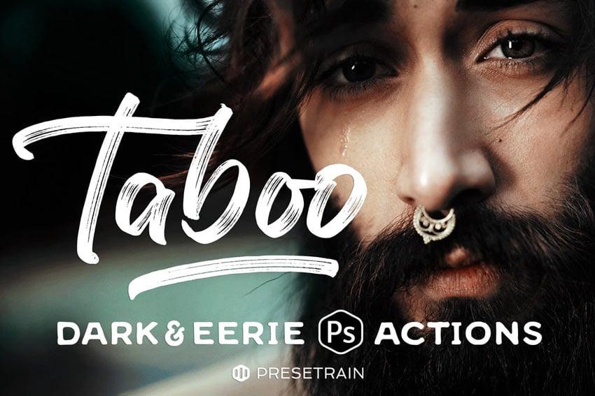 Taboo Dark Fantasy Retro Effect Photoshop Actions