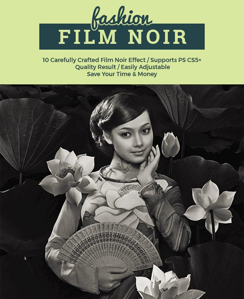 Film Noir Aesthetic Retro Pictures Photoshop Action