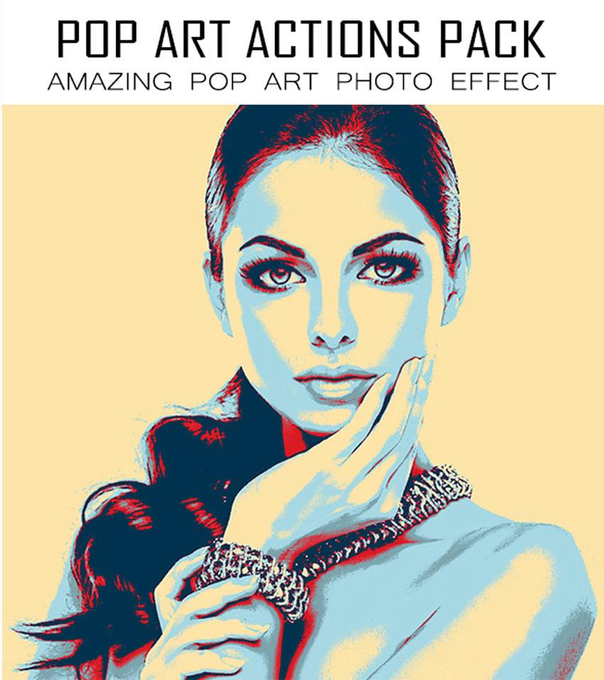 Pop Art Photoshop Actions Pack