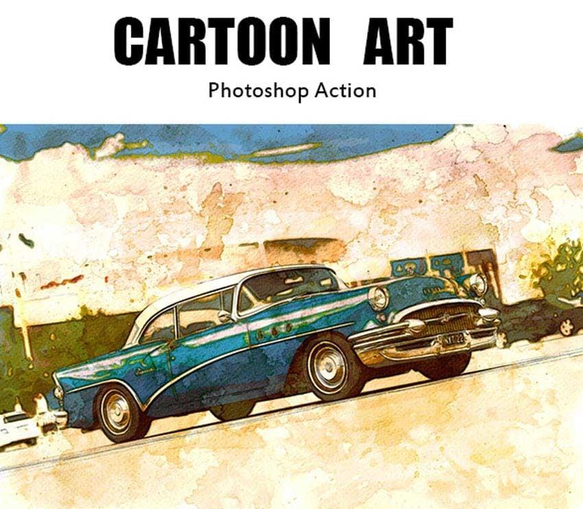 Cartoon Art Photoshop Action
