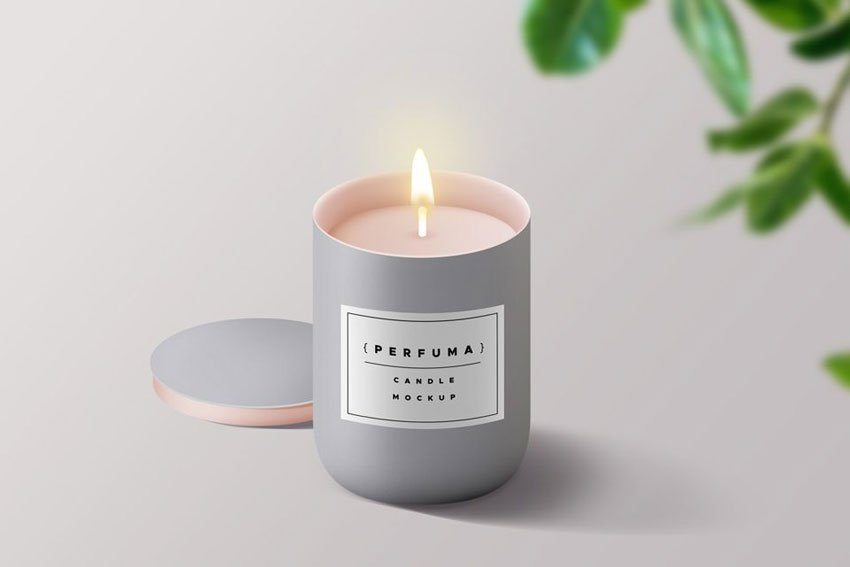 Branded Candle Mockup