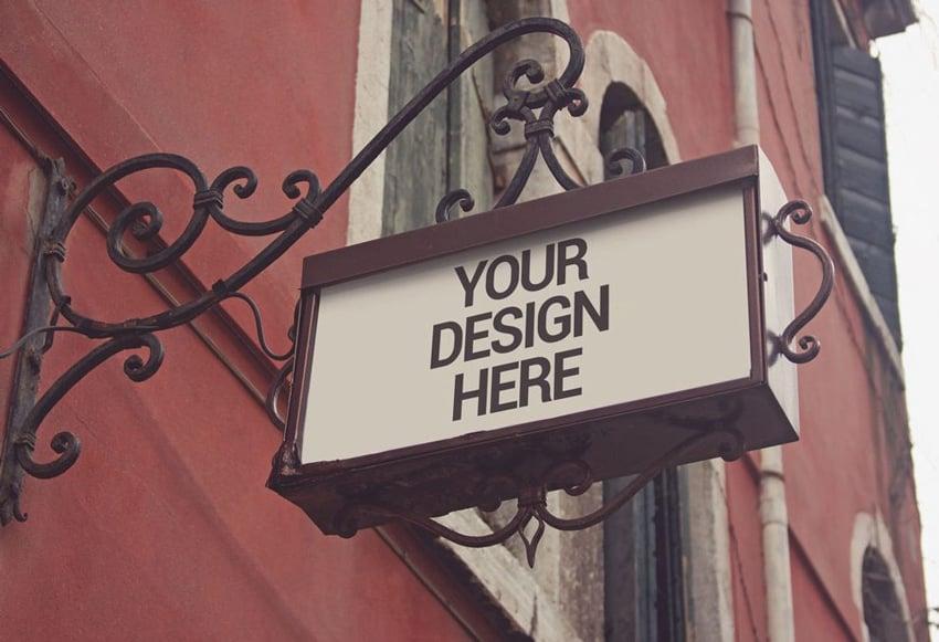 Traditional Shop Signage Mockup
