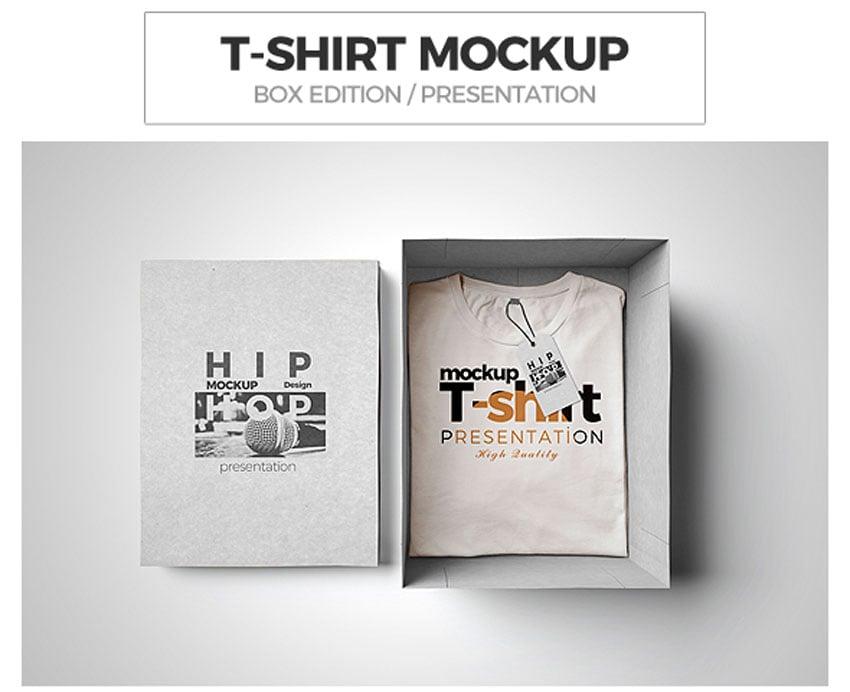 T-shirt Mockup  Box Edition