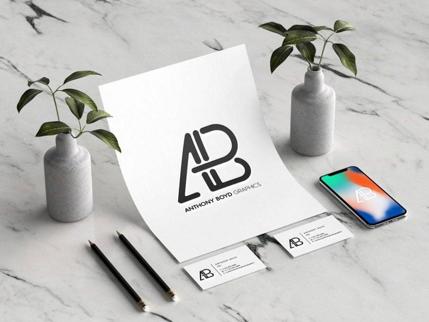 Branding Identity with iPhone Mockup