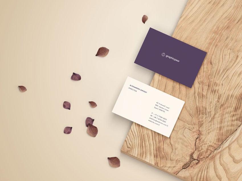 Front  Back Business Card Mockup