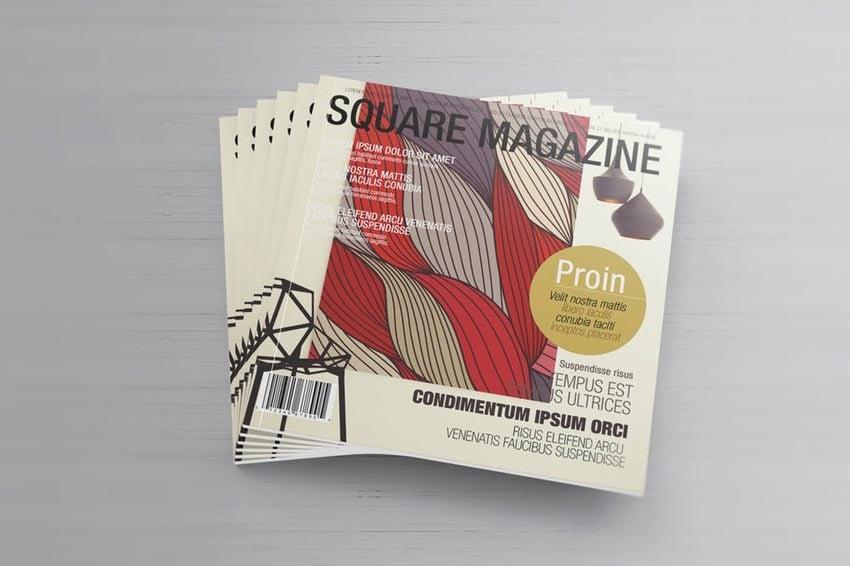 Brochure - Square Magazine Mockups
