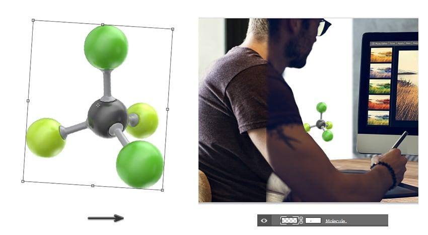 Add the molecule