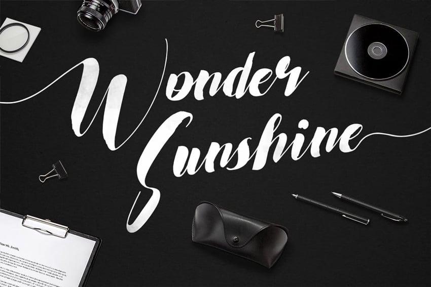 Wonder Sunshine Typeface