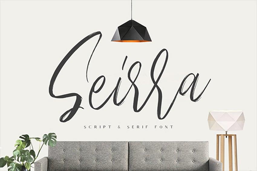 Seirra Script and Serif Font