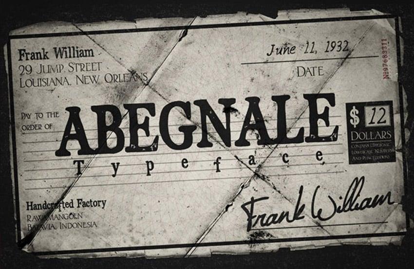 Abegnale Classic Font