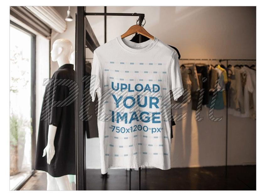 T-Shirt Mockup on a Hanger