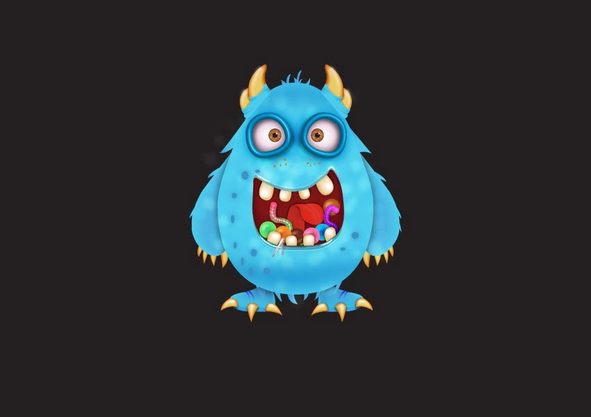 How to Create a Candy Monster Character in Adobe Illustrator