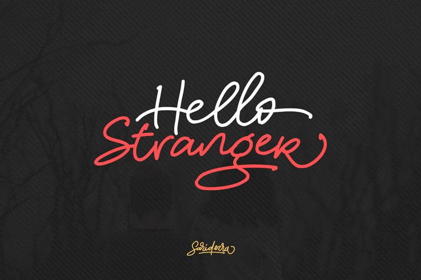 Hello Stranger Typeface