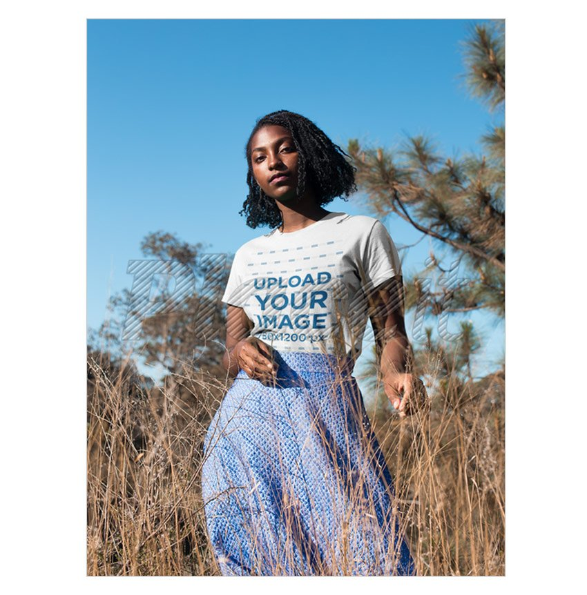 T-shirt on Model Mockup