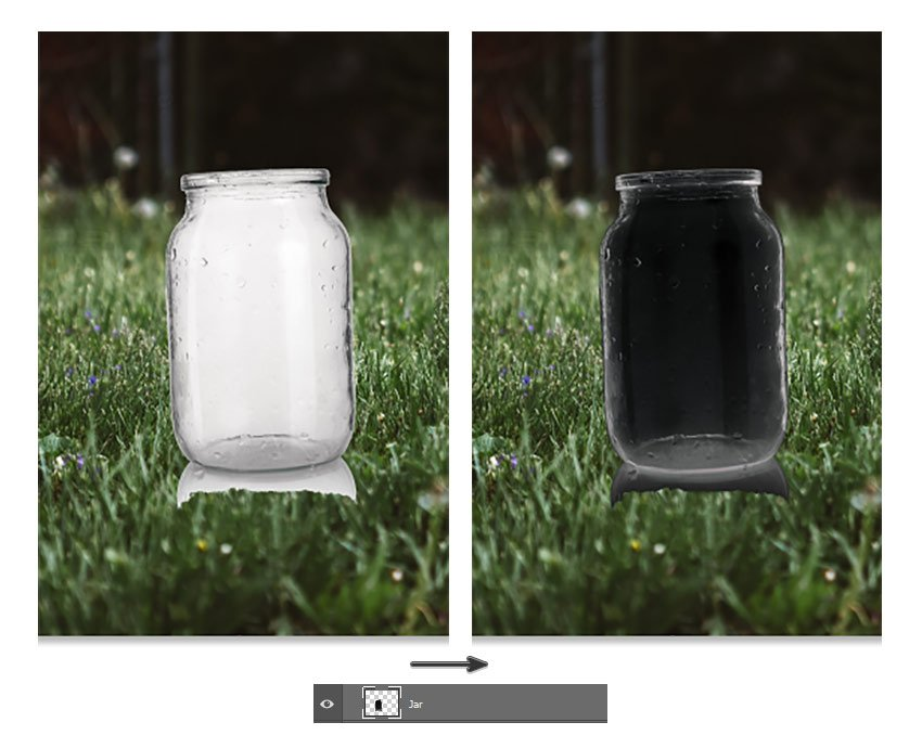 Invert the jar
