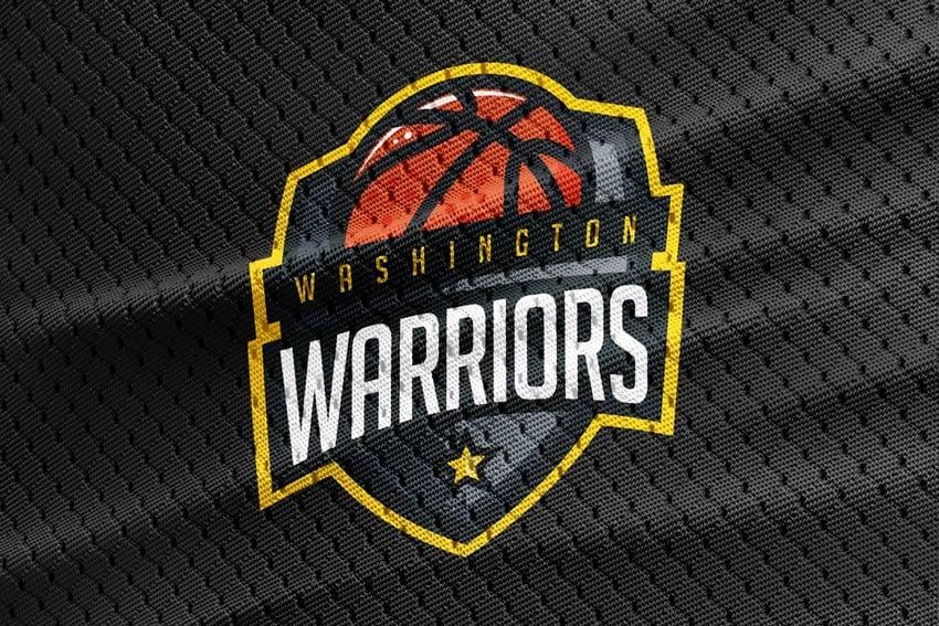 Warriors Basketball Team Logo Template