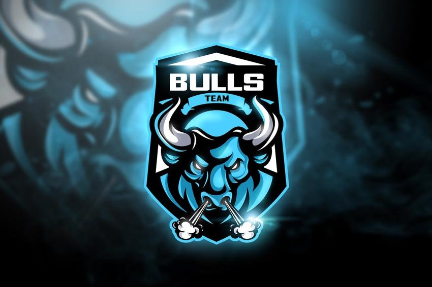 Bulls Team Mascot  eSport Logo