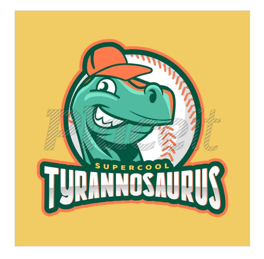 Baseball Logo Maker with Dinosaur Clipart