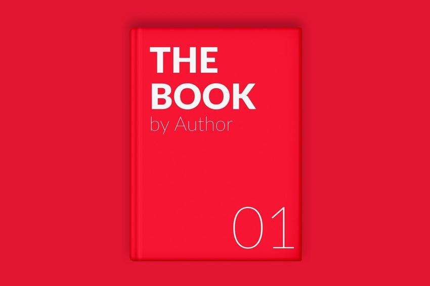 The Book Cover Minimal Mockup
