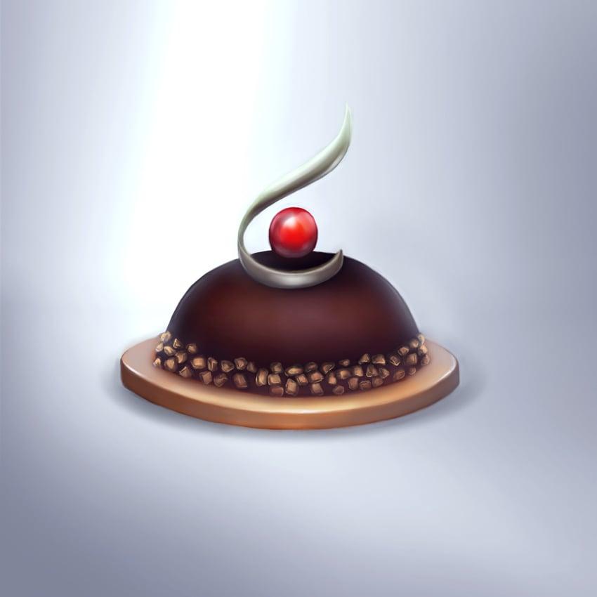 Chocolate dessert painting Photoshop tutorial