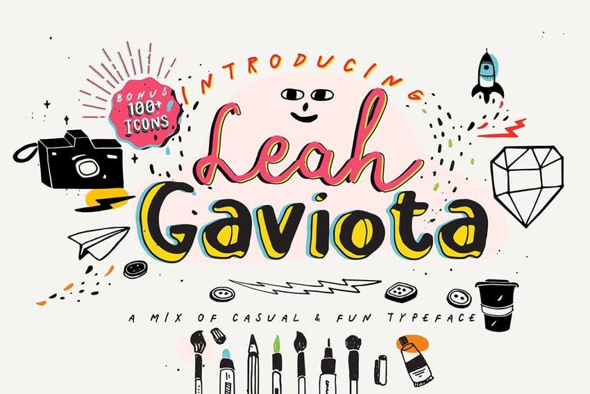 Leah Gaviota Hand Lettered Font