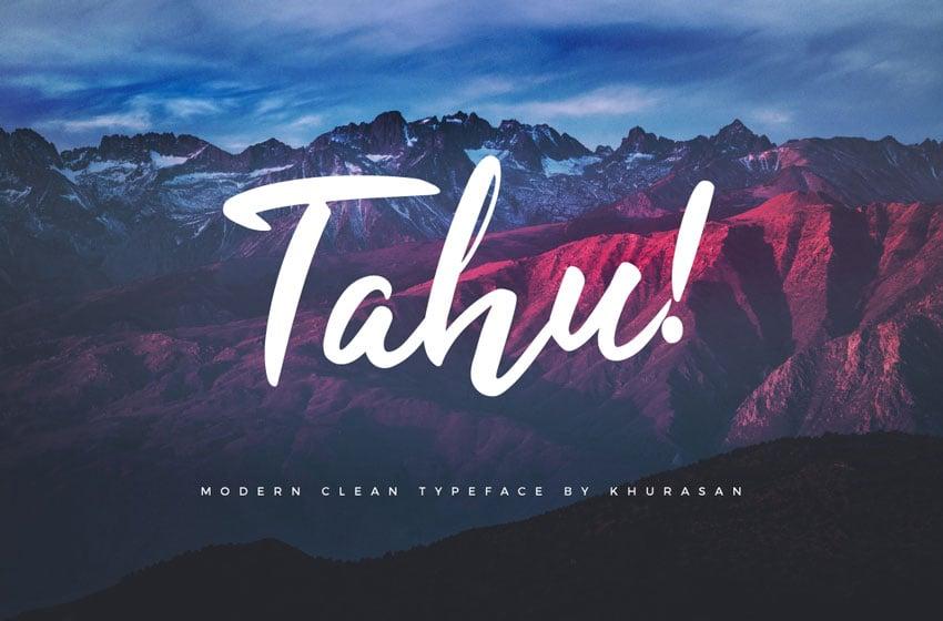 Tahu Script Font
