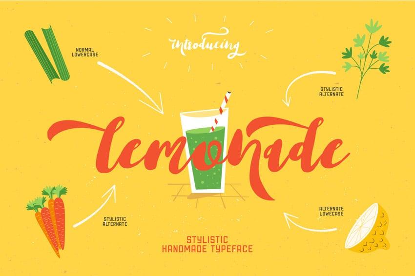 Lemonade Script Font