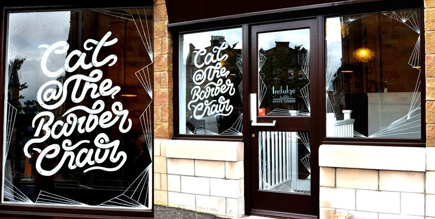 Typographic Window Mural