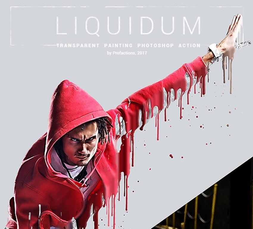 Liquidum - Transparent Painting Photoshop Action
