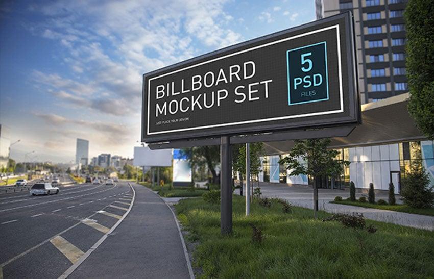 Modern Billboard Mock-up Set