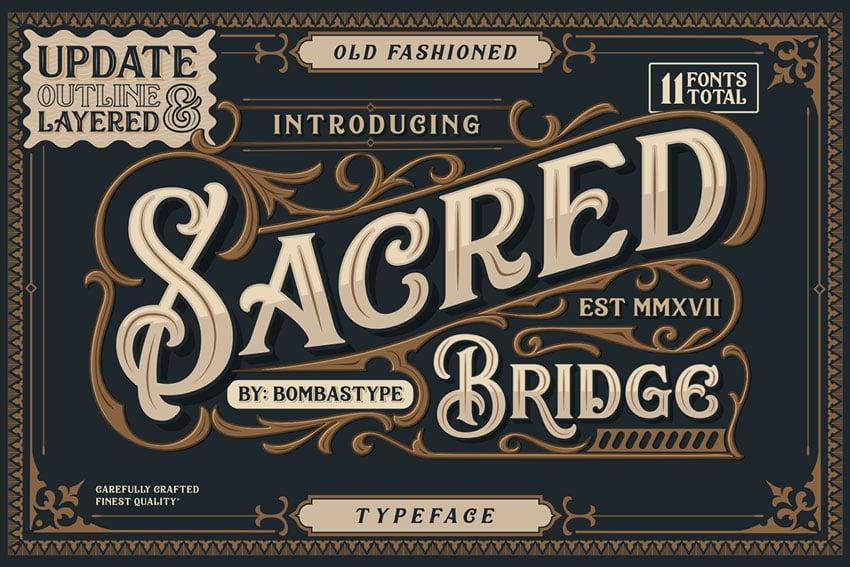 Sacred Bridge Display Font