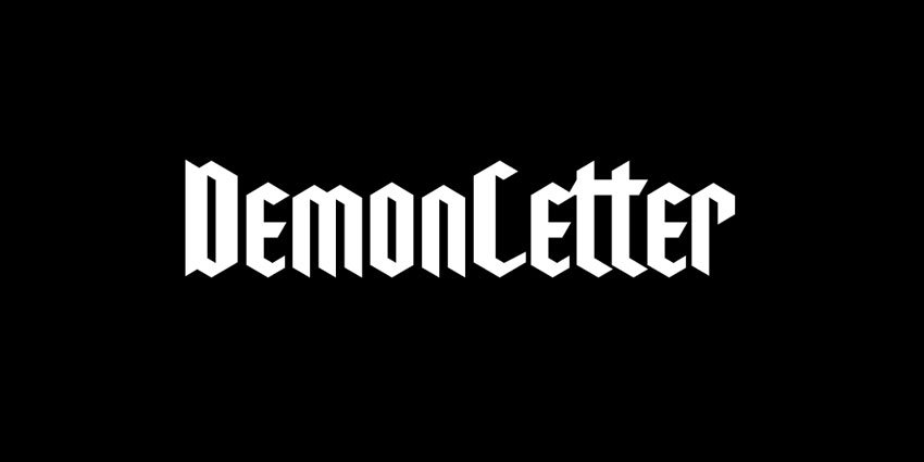 Demon Letter Font